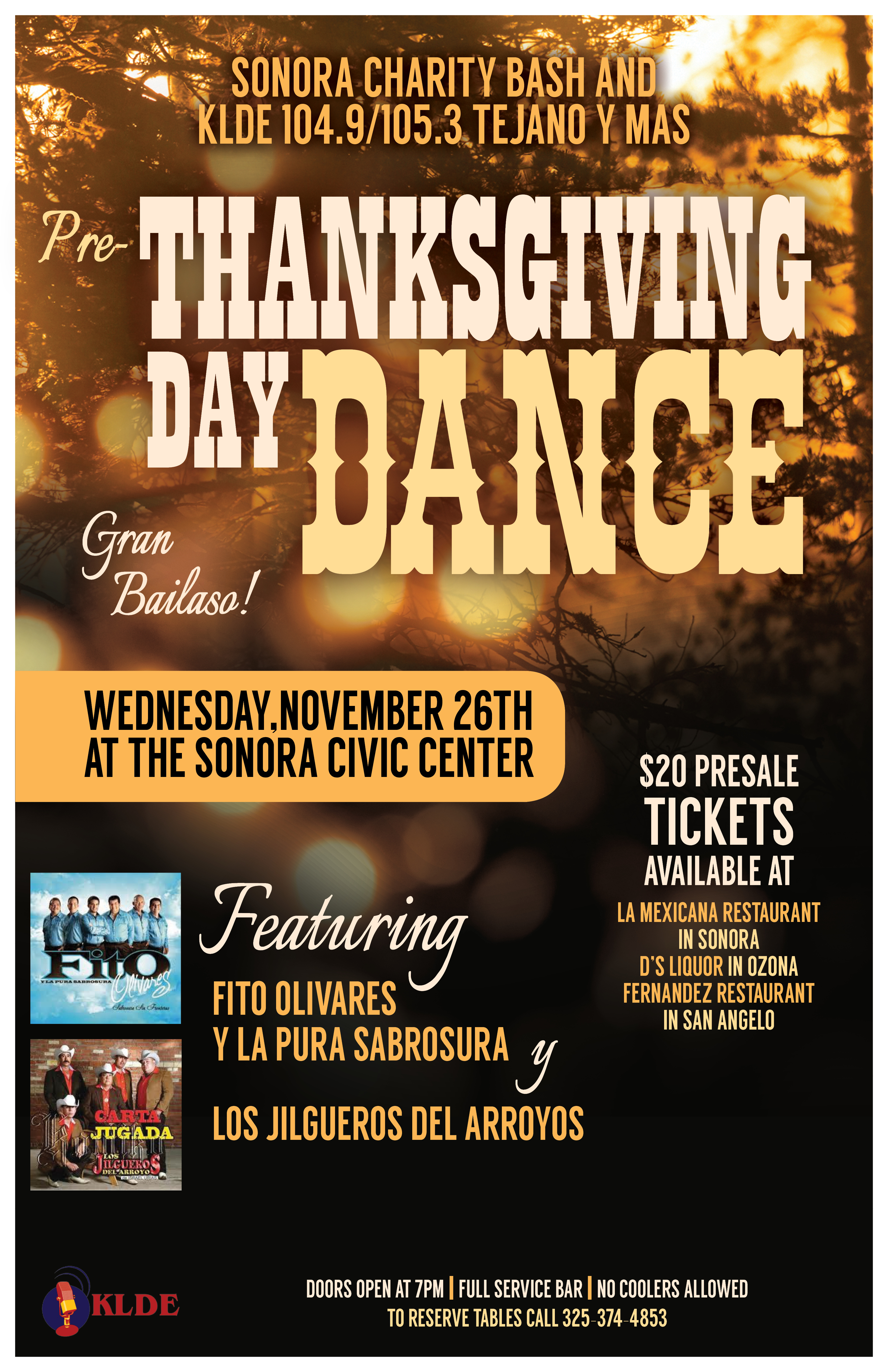 La Mexicana Pre Thanksgiving Dance Poster