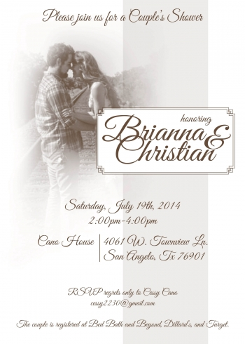 Cecilia Cano bridal shower invitation 2