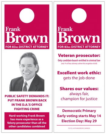 Frank Brown door hanger