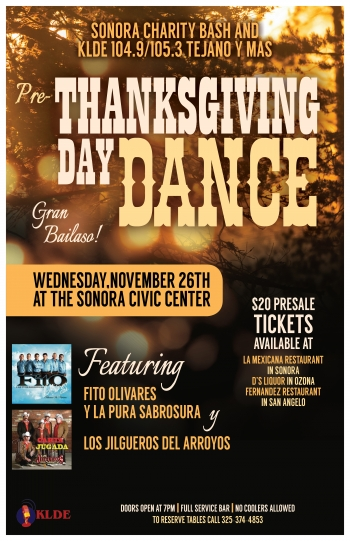 La Mexicana Pre-Thanksgiving Dance poster
