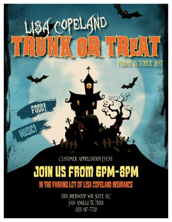 Lisa Copeland trunk or treat flyer