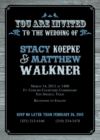 Matthew Walkner wedding invitation