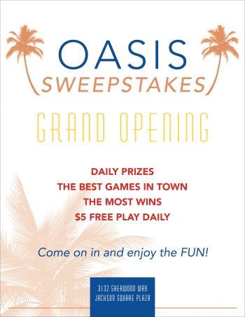 Oasis Sweepstakes flyer