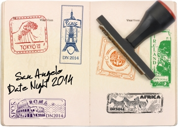 SA Date Night stamped passport