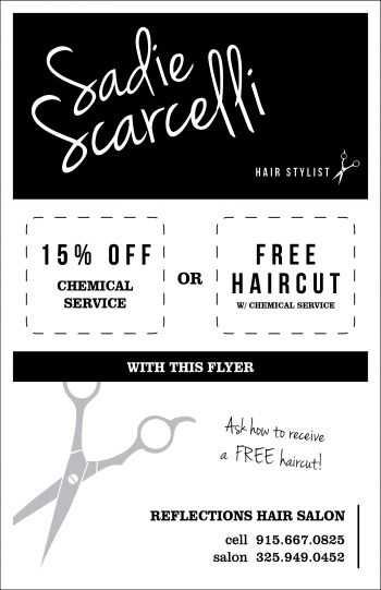 Sadie Scarcelli flyer