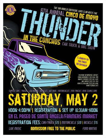 Thunder in the Conchos 8.5x11 flyer