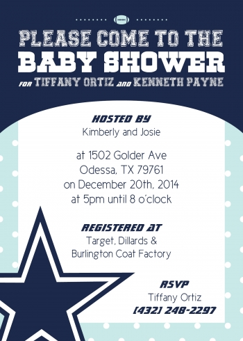 Trelli baby shower invitation