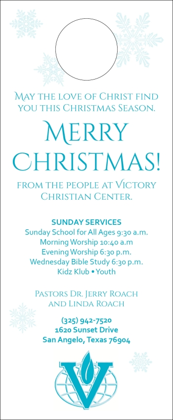 Victory Christian Center door hanger