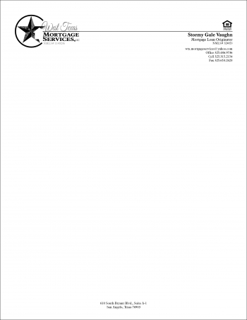 West Texas Mortgage Services, LLC letterhead